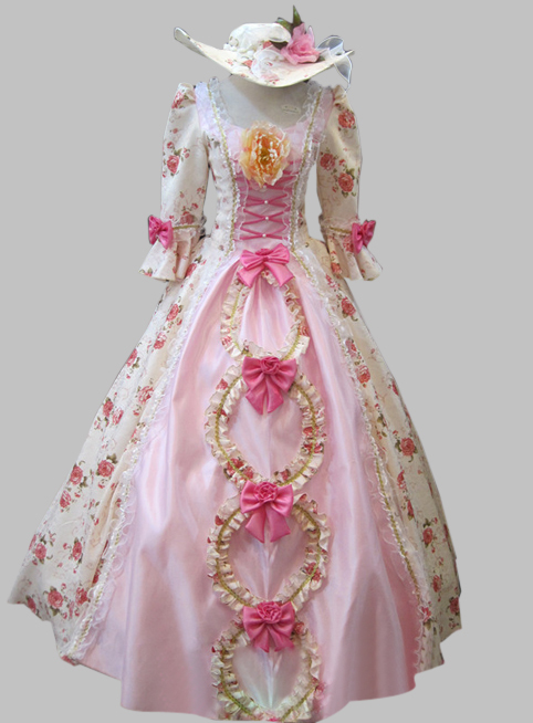 f0b599fcdf183 Hot Sale Pink Baroque Rococo 17 18th Century Marie Antoinette Floral A Line  Cosplay Costume Dress Ball Gown