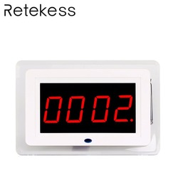 433MHz Restaurant Receiver Host Wireless For Waiter Paging System Nurse Cafe Office Customer Display With Voice Broadcast F3259B