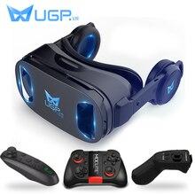 UGP U8 VR gözlük 3D kulaklık sürümü IMAX sanal gerçeklik kask 3D film oyunları kulaklık ile 3D VR gözlük isteğe bağlı denetleyici