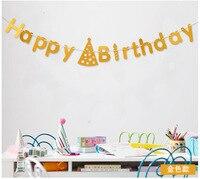 10 cái 3 Màu Chúc Mừng Sinh Nhật Trẻ Em Trang Trí Chữ Treo Bar Cờ Bunting Banner Vòng Hoa Baby Shower Đảng Supplies