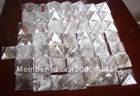 10 NATURAL CLEAR QUARTZ CRYSTAL PYRAMIDS Wholesale Price Free shipping