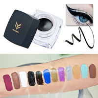 12 PCS Brand Makeup Eyes Colors Pigment Purple Black Brown Eyeliner Cream Maquillage Cosplay Matte Shimmer