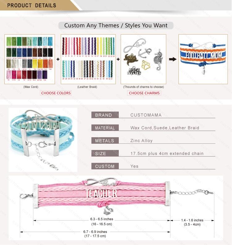 Dropshipping- Infinity Love Plexus Heart Pink Multilayer Fashion Wrap Bracelets For Women Men Fashion Bracelet Jewelry