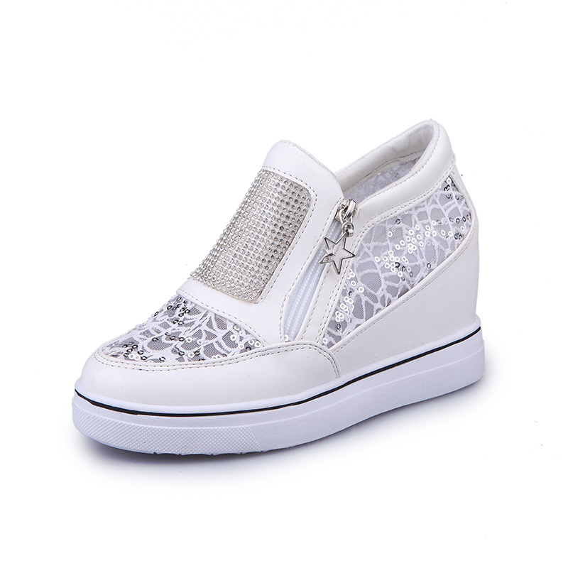 ФОТО Listed on The New 2017 The High Quality Fashion Casual Women Shoes Comfortable Breathable Tenis Feminino Shine Superstar