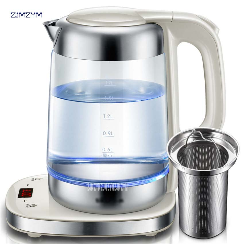 ZDH-A17J1 Electric kettle with glass thickness polymerization automatic temperature control pot 1800W Power Food grade glass220V kettle thermostat temperature control switch electric kettle accessory replaceme