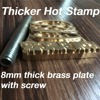 2 0 Thicker Customize Hot Brass Stamp Iron Mold Personalized Mold Heating On Wood Leather League