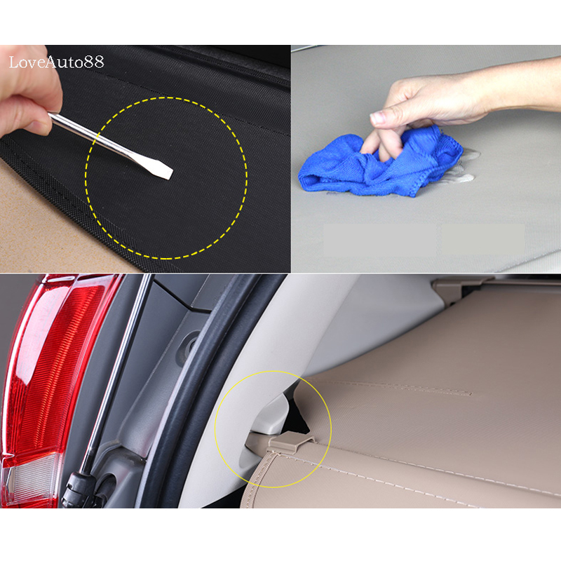 Image 5 - For Honda CRV CR V 2017 2018 2019 Cover curtain trunk partition curtain partition Rear Racks Car styling accessories-in Rear Racks & Accessories from Automobiles & Motorcycles