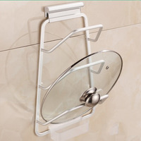 Cabinet Door Hook Pan Pot Cover Lid Rack Stand Stove Organizer Kitchen Storage Holder Rack Shelf