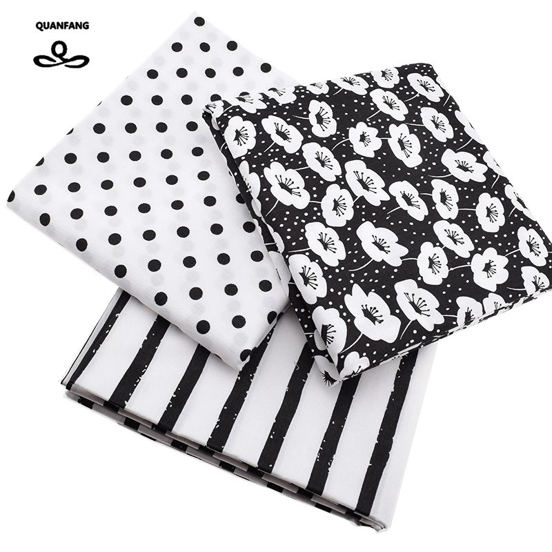 Printed Twill Cotton Fabric For Sewing Quilting Black&White Tissue Baby Bed Sheets Sleepwear Children Dress Skirt Material china Салфетницы