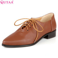 VINLLE New Style Oxford Shoes For Women Flat Boots For Women Shoes Leather Boots Oxfords Low