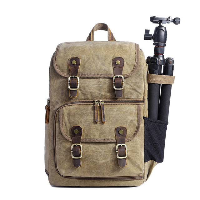 389e3792f6da New camera bag camera SLR shoulder photography backpack waterproof large  capacity wax dye canvas backpack bag