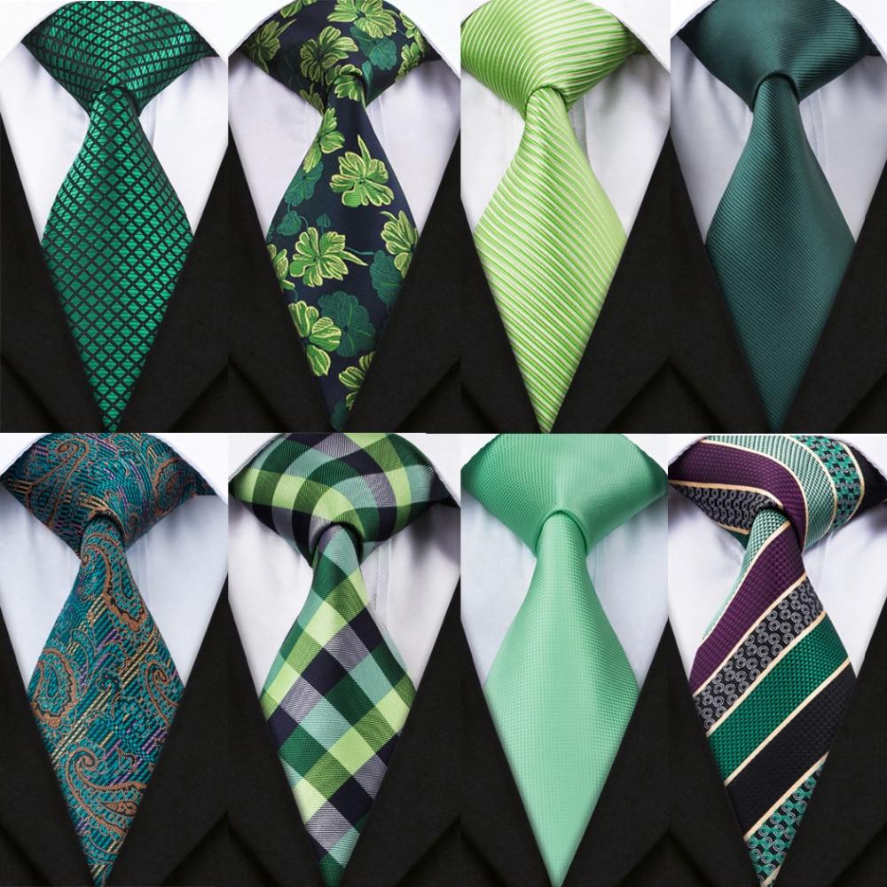 Barry.Wang 2018 New Arrival 20 Styles Blue Ties For Men 100% Silk Male Men's Tie Hanky Cufflinks Neck Tie Pocket Square Set