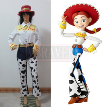Toy Story The Yodeling Cowgirl Jessie Top Pants Outfit Full Set Adult Halloween Cosplay Costume