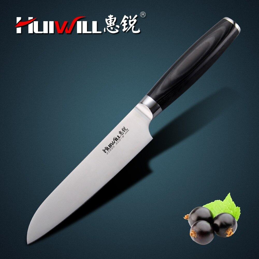 """HUIWILL marke 5 """"Japanische AUS 8 edelstahl Santoku Messer Chef küchenmesser utility messer kitchen"""