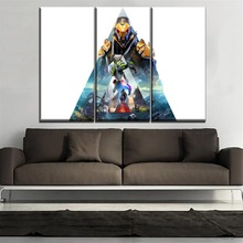 5 Piece Games Warrior Poster Anthem Painting Modern On High Quality Canvas Printing Type Wall Art Home Decorative Picture