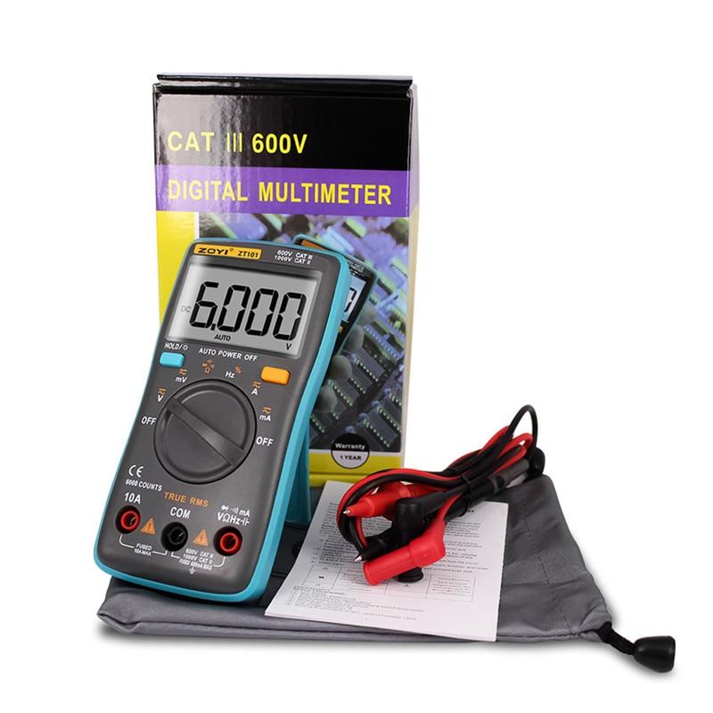 ZOYI Multimeter Z101/ZT102 Digital Multimeter auto range 6000 counts AC/DC Ammeter True RMS multimeter lcd portable multimeter true rms multimeter ac