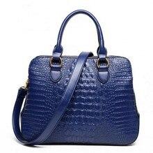 Top Grade Luxury Crocodile Handbag 2015 women vintage leather zipper clutch designer high quality large bag bolsos de marca 45