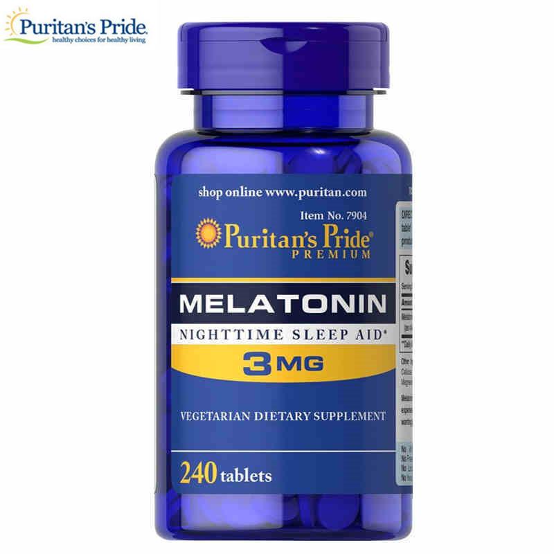 Puritan's Pride Super Strength Rapid Release Capsules Melatonin 3 mg --  each of 240 Count