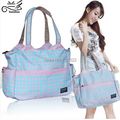 free shipping fashion waterproof nappy bags large capacity multifunctional mother bag maternity infanticipate bag messenger bag