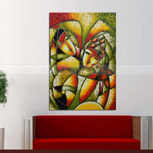 fashion Large Handpainted Abstract Oil Painting on Canvas Handmade abstract figure oil For Living Room decor Wall Art