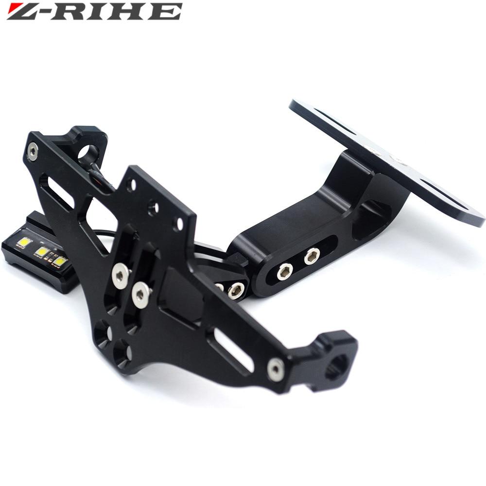 Motorcycle Adjustable Angle Aluminum License Number Plate Frame Holder Bracket For honda CR CRF XR XL CRM 85 125 150 230 250 450