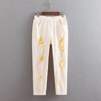 Women Colorful Hole Jeans Plus Size 3 4 5 6 XL Casual Stretched Pencil Pants Slim Denim Jeans Trousers