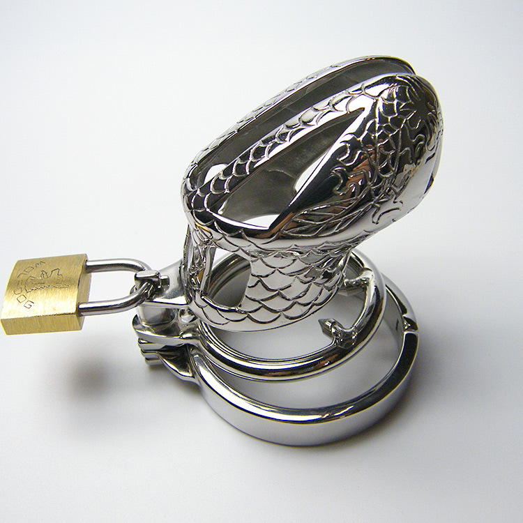 Stainless Steel Metal Cock Penis Cage Scrotum Bondage Slave Male Chastity Device,Fetish Sex Games Products Toys For Men - AJ47