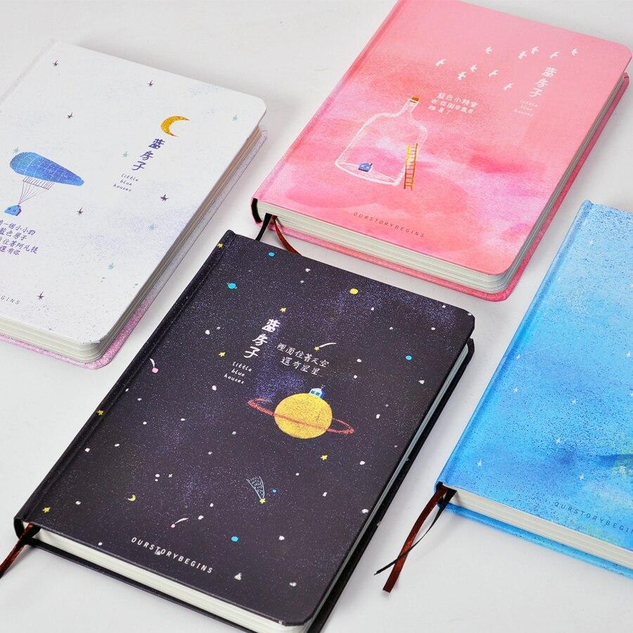 A NOSSA HISTÓRIA COMEÇA Casa Série Notebook Notebook 32 K A5 de Capa Dura de Cor Azul Fresco Bonito 1 PCS