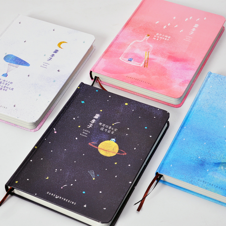 Beautiful Book Cover Notes ~ Our story begins blue house series notebook color