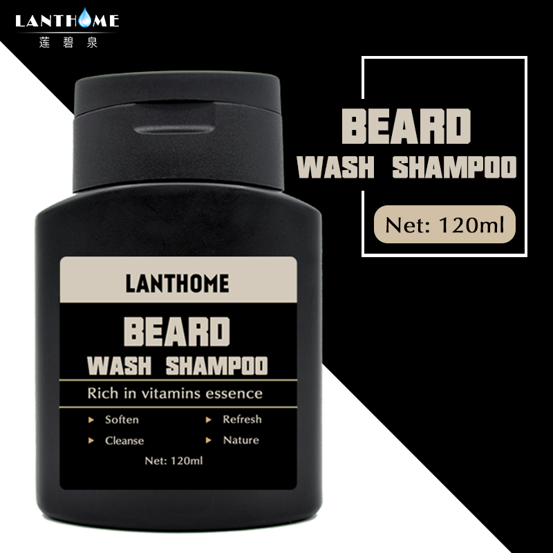 1PC Lanthome Vitamin Hair Beard Care Men's Gift Beard Cleaning Assistance Machine Moisturiser Deep Cleansing Beard Wash Shampoo