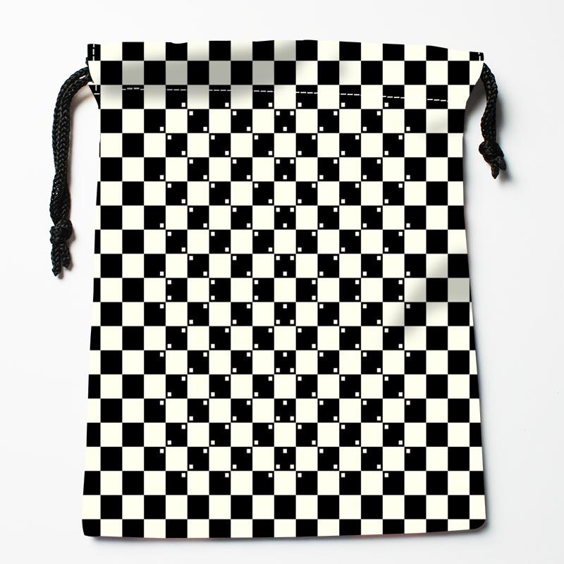 Custom Black And White Lines Drawstring Bags Custom Printed Gift Bags More Size 27x35cm Compression Type Bags