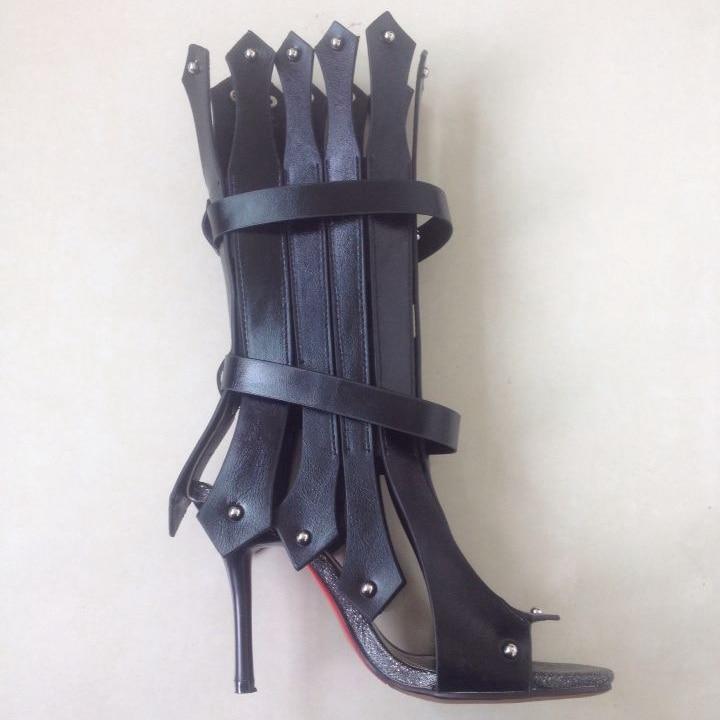 Sommer Sandalen Luxus 5 Niet weiß Schwarzes 2017 9 Frauen Heels Für Gladiator Stilettos High weiß Schwarz Schuhe Cm qZgnFREww