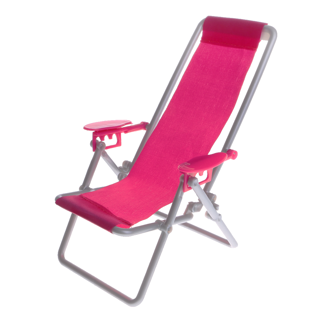 1/6 Scale  Mini Beach Deck Chair For  Dolls House Kitchen Dining Room Decoration Accessories Girls Dollhouse Toy