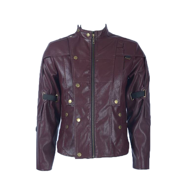 Marvel Superhero Guardians of the Galaxy Star Lord Peter Jason Quill PU Leather Jacket Cosplay Costume Daily Casual Jacket