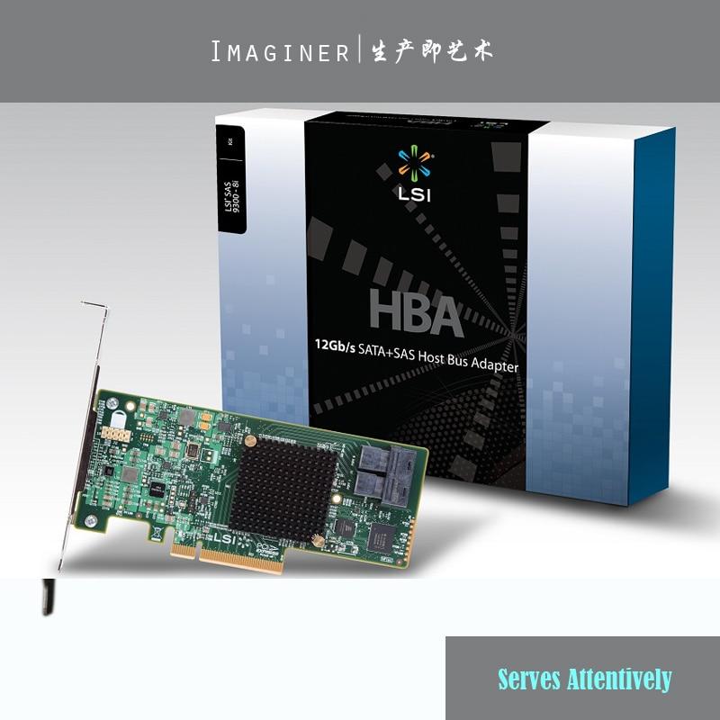 LSI00344 9300 8i Internal 12Gb s 8 Port PCI Express 3 0 X8 SAS SATA Host