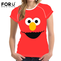 FORUDESIGNS Cute Women S 3D Funny T Shirts Cartoon Monsters University Print Short Sleeved Gym Compression