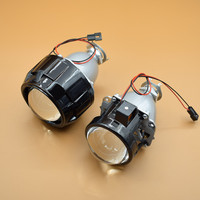 New Full Metal 2 5 HID Projector Lens With Black ShroudHeadlight Head Lamp Lenses H4 H7