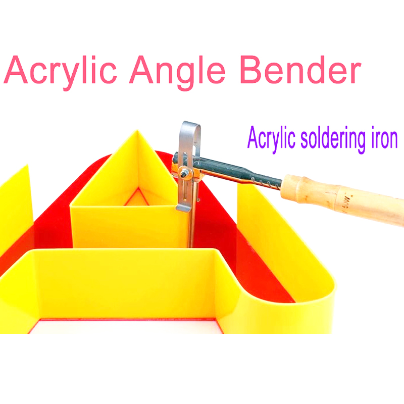 Hot sale New 2 Flat plug cable 12cm maual  Acrylic Right Angle benders  Acrylic soldering iron 50w for advertisement tool