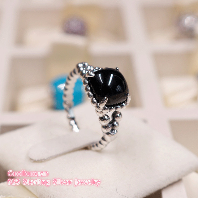 aa275579a 2018 Summer Authentic 100% 925 Sterling Silver Vibrant Spirit Ring, Black  Crystal Ring For Women Jewelry Rings