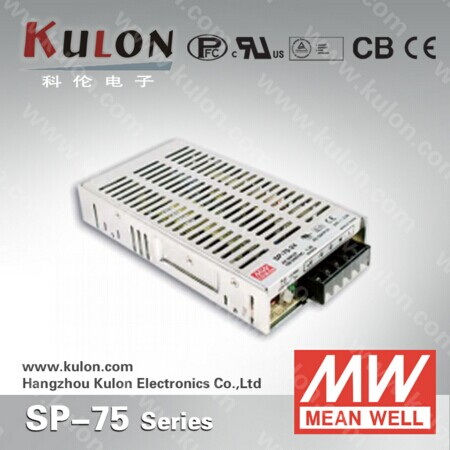 75W 3.2A 24V Power Supply Meanwell SP-75-24 110v/220v ac to dc 24V Power Unit with PFC meanwell 24v 100w ul certificated clg series ip67 waterproof power supply 90 295vac to 24v dc
