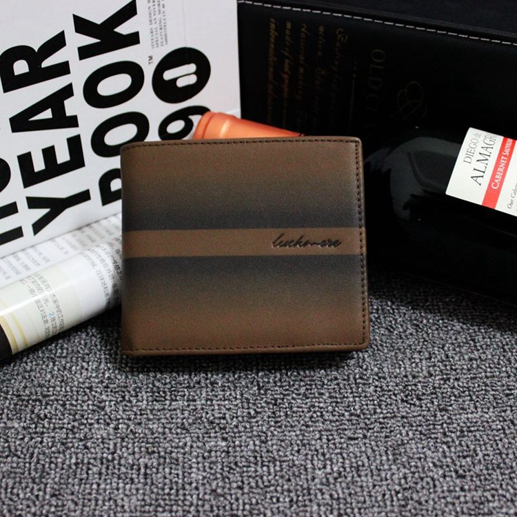 100% Genuine Leather Men Wallets Famous Brand Man Wallet Short Designer Purse With Card Holders Dollar Price 2016 High Quality