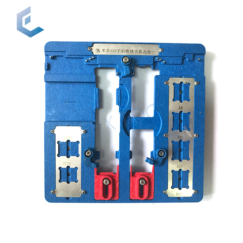 9 in 1 Mobile Phone Repair Motherboard Fixture PCB Holder jig For iPhone 5S 6 6S 7 8 Plus CPU Chip Fix Tools A22 high temperature resistant pcb motherboard test fixture jig holder maintenance repair platform for iphone 8 8p 7 7p 6 6s 5 5s