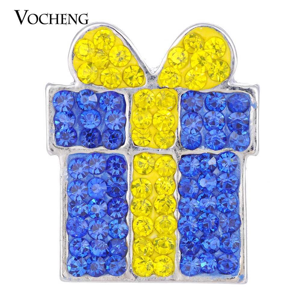 Regalo di natale Vocheng Ginger Snaps Gioielli 18 millimetri 5 Colori di Argilla Pendenti E Ciondoli Vn-1614