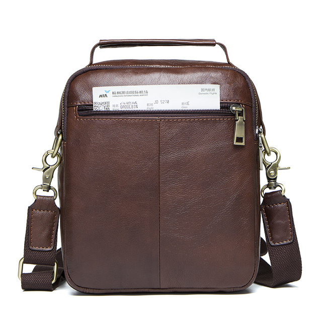 CONTACT'S Genuine Leather Shoulder Bags Fashion Men Messenger Bag Small ipad Male Tote Vintage New Crossbody Bags Men's Handbags 1