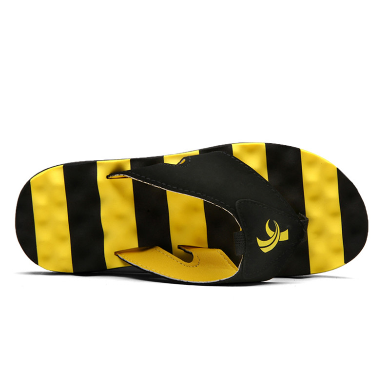 Summer Fashion Men Massage Slippers Big Size Non slip Flip Flops For Male 2019 Newest Beach Shoes Sandals Dropshipping in Flip Flops from Shoes