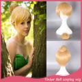 Cosplay Hair Wig 30cm Short Blonde Cos Princess Tinkerbell  Wig Fairy Tinker Bell Full Hair Wig Anime Adult Size Cheap Wigs