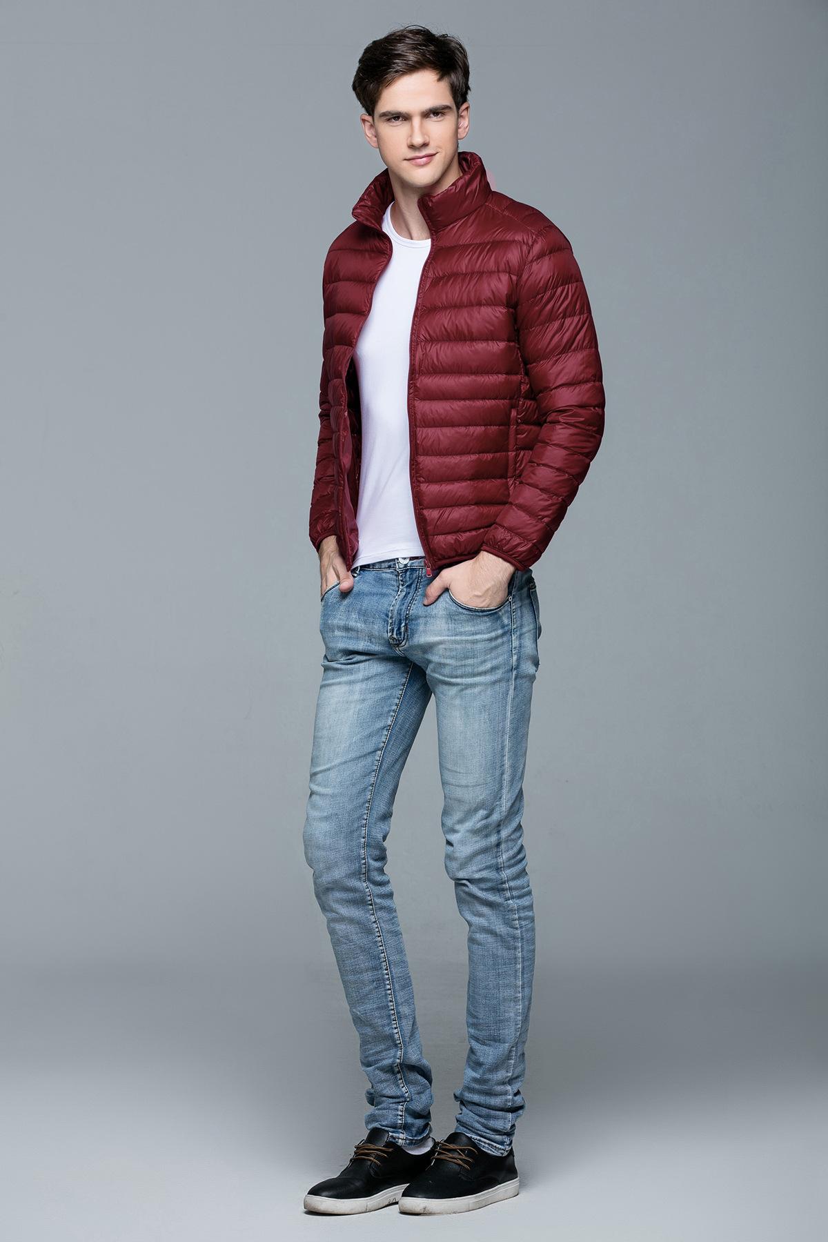 e9ec7aab6f0 Men s Winter Warm Down Coat Standard Collar Male Young Canada Jacket Down  Coat Long Sleeve Pocket Warm Wear Plus Size B-9592
