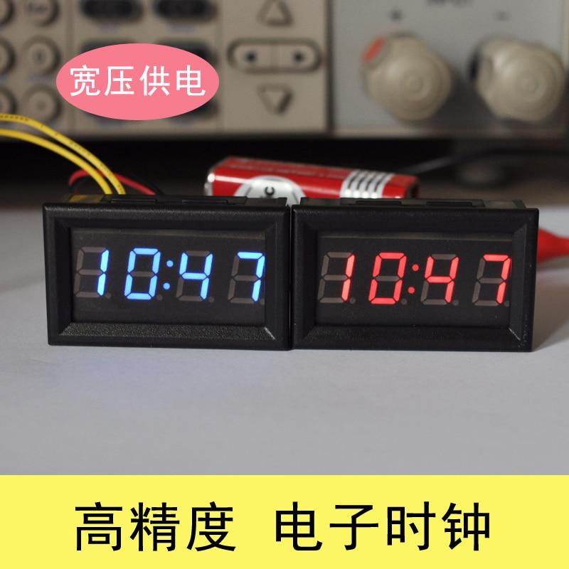 Electronic clock with DIY modified car car clock digital clock clock luminous schedule LED car clock