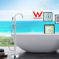 WELS AND CUPC Approval Floor Mounted Bathroom Tub Faucet Floor Standing Tub Filler W Hand Shower