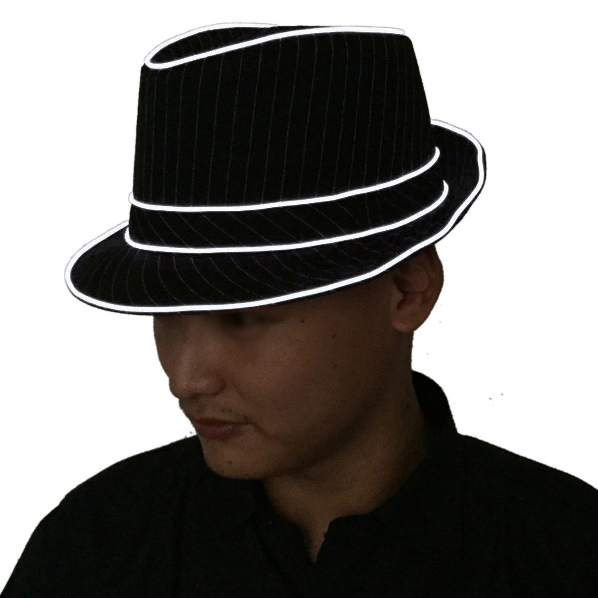 99a95c25ab755 1.5V LED Jazz Hat Flashing Fedora Falshing Stage Performing Halloween Fancy  Dress Party (Yellow Light)-in Party Hats from Home   Garden on  Aliexpress.com ...